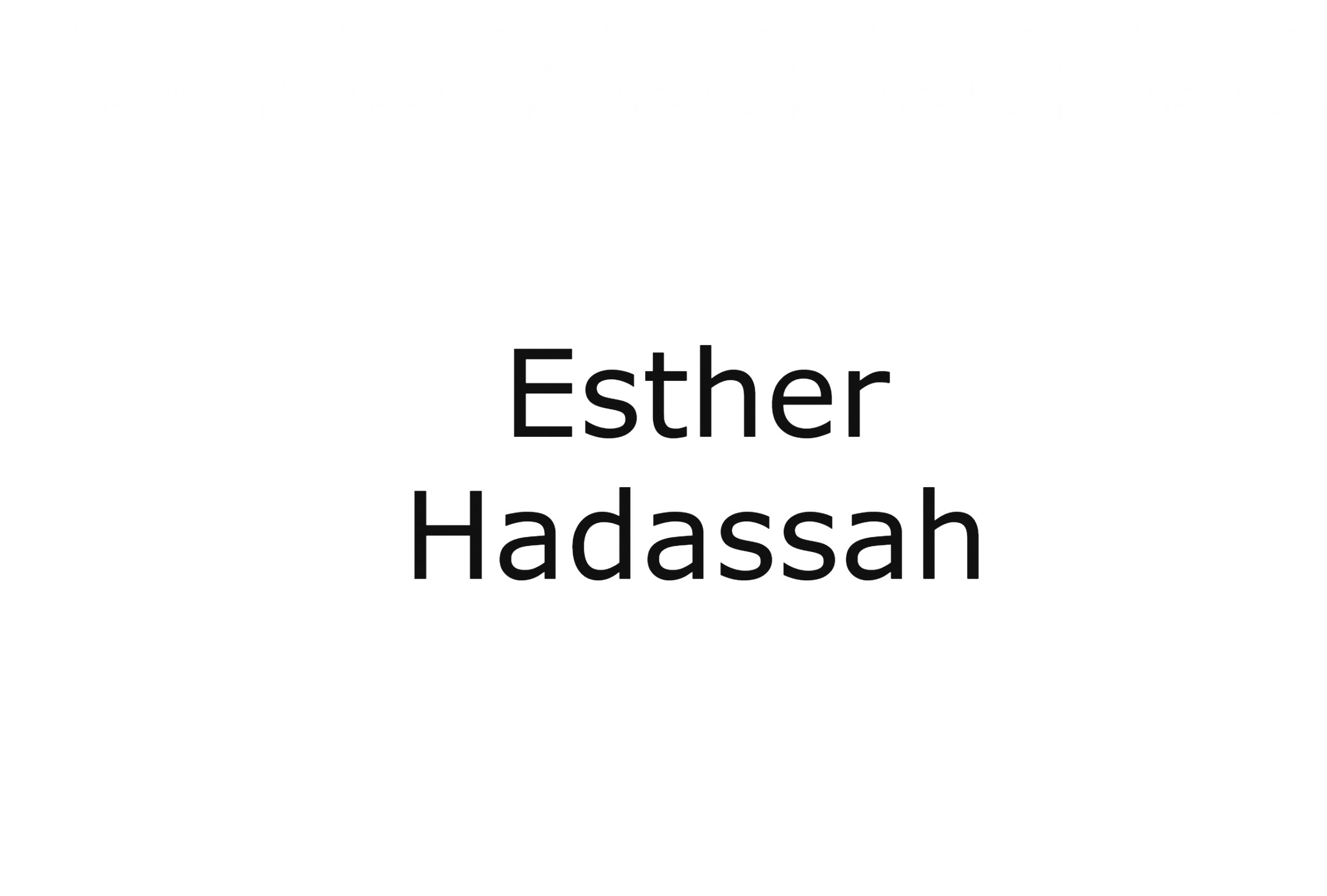 Author Esther Hadassah